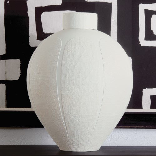 Linen Jar-Soft White