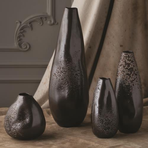 decor containers coles global views products smoosh vase matte graphite 10196