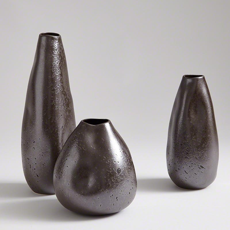 Smoosh Vase-Matte Graphite