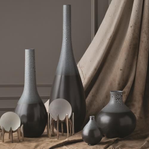 Eggshell Vase-Grey/Blue