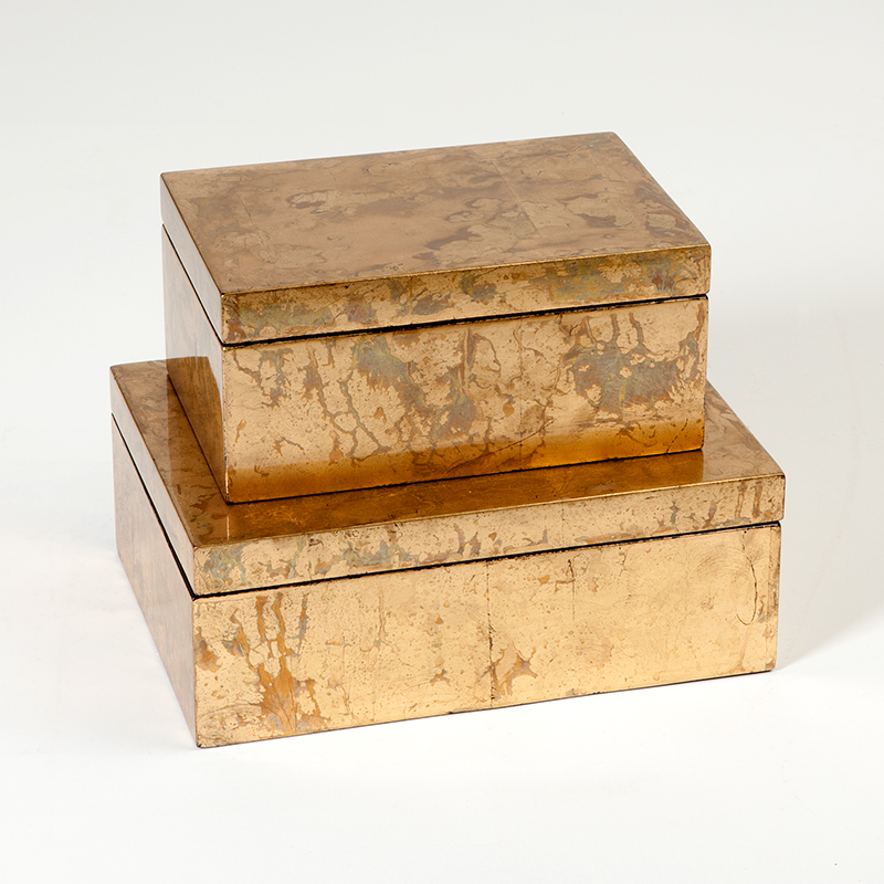 Luxe Gold Leaf Boxes