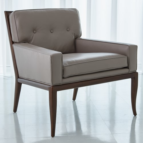 Wilson Lounge Chair-Grey Leather