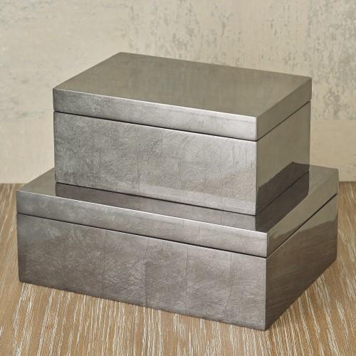 Gunmetal Silver Leaf Box