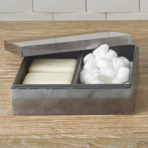 Gunmetal Silver Leaf Amenity Box