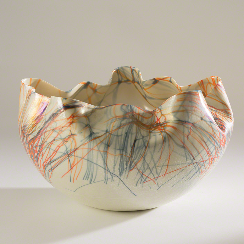 Cambrian Bowl-Orange & Blue