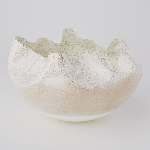 Global Views Products Cambrian Bowl Ivory Amp Sand