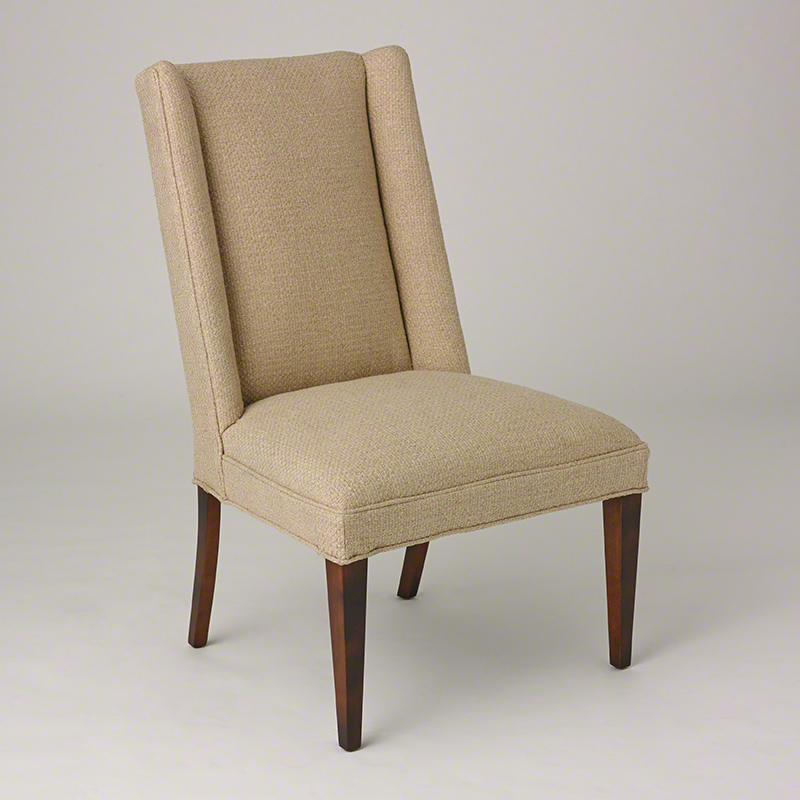 Straight Wing Side Chair-Protege Grid Natural