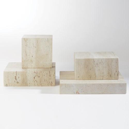 Travertine Cube Riser