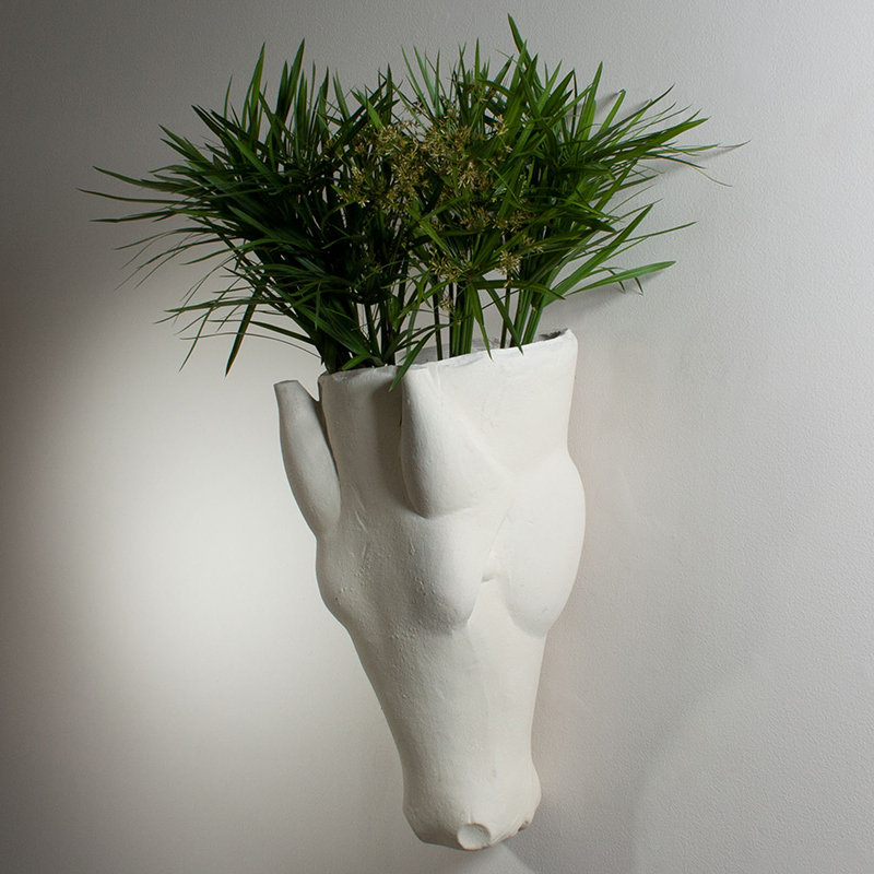 Equus Wall Vase-Limestone Finish