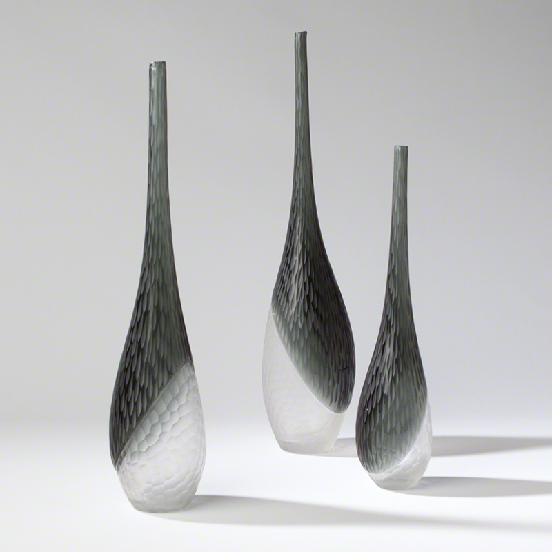 Global Views Products Split Chiseled Vases