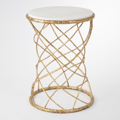 Tango Accent Table-Gold Leaf