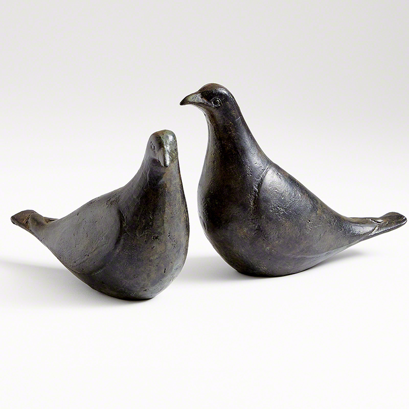 Dove Pair-Oiled Bronze