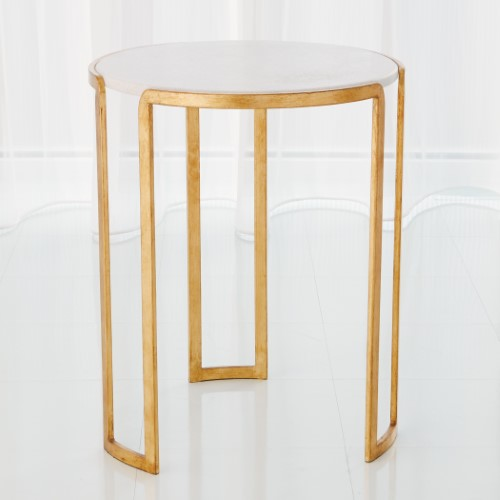 Channel Accent Table-Gold Leaf