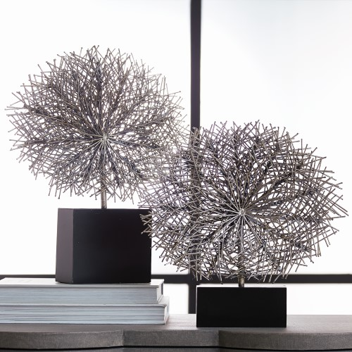 Tumble Weed Sculpture-Silver Leaf