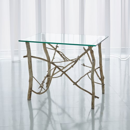 Twig End Table-Silver Leaf