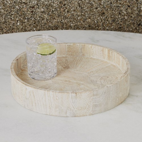 Driftwood Round Topper Tray
