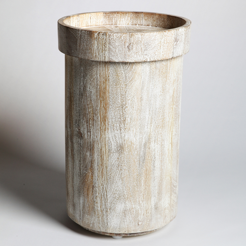Driftwood Drum Table