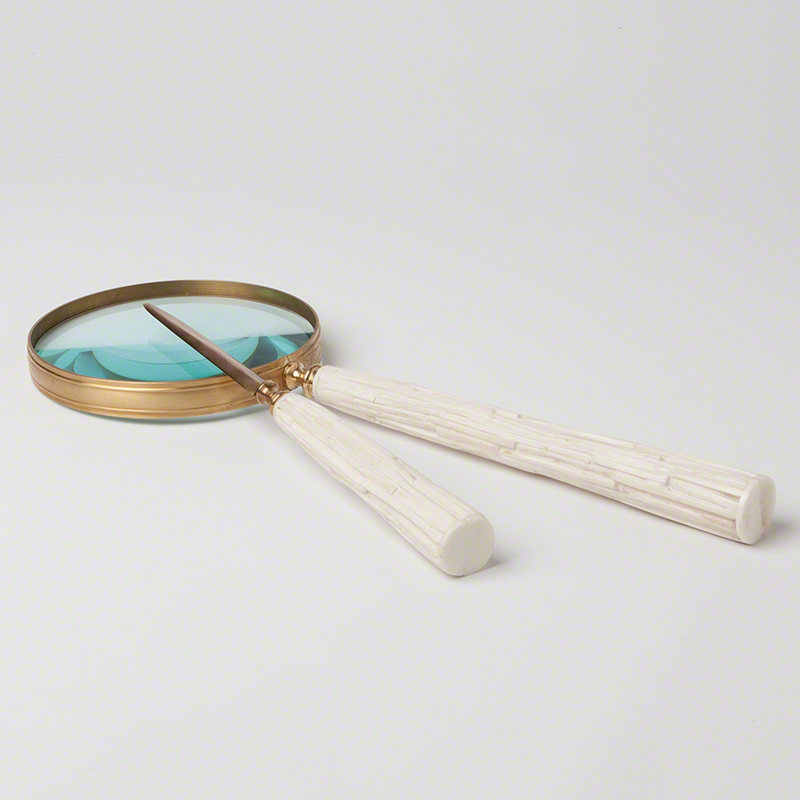 Chiseled Bone Magnifying Glass/Letter Opener