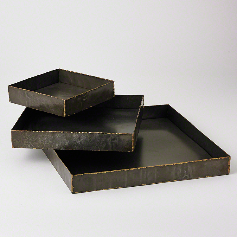 Laforge Trays-Braised Brass