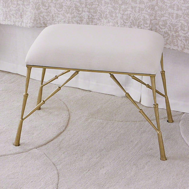 Spike Bench with Muslin Cushion