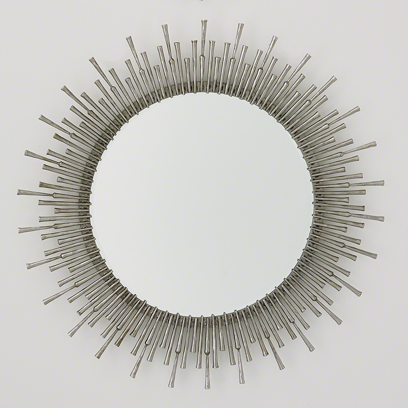 Spike Mirror-Antique Nickel