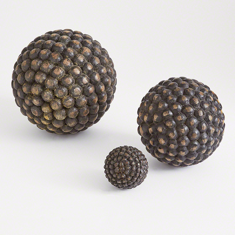 Wooden Orbs-Weathered Charcoal
