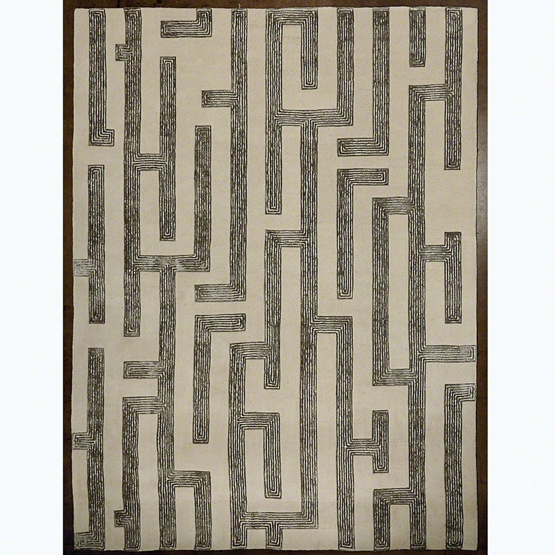 Labyrinth Rug-Grey