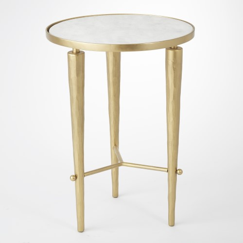 Jasper Accent Table-Brass