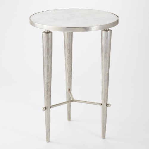 Jasper Accent Table-Nickel