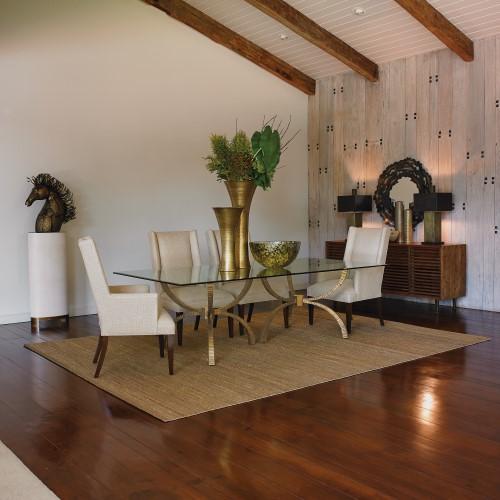 Teton Rectangular Table-Gold