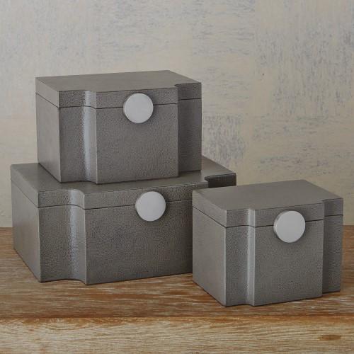 Serpentine Box-Grey Pebble