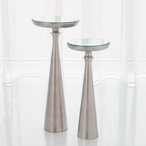 Minaret Accent Table-Satin Nickel