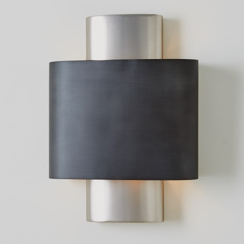 Nordic Wall Sconce-Antique Nickel-Hardwired