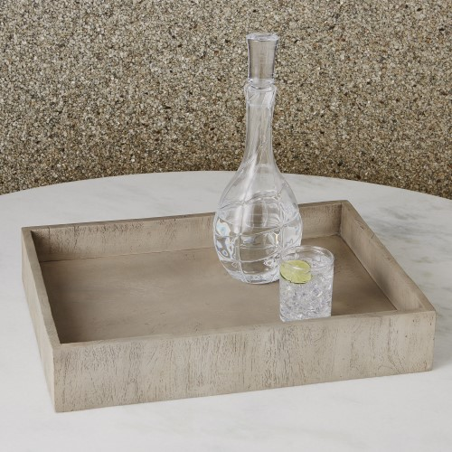 Driftwood Rectangular Tray-Grey