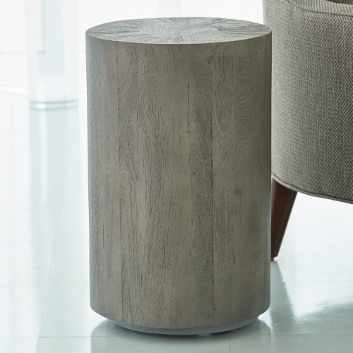 Driftwood Drum Table-Grey