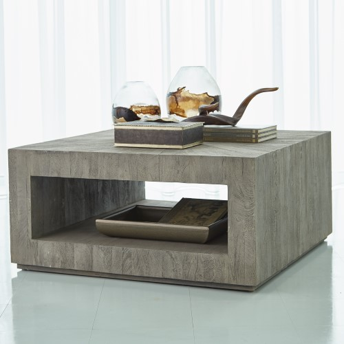 Driftwood Square Coffee Table-Grey