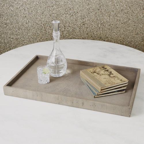 Driftwood Ottoman Tray-Grey