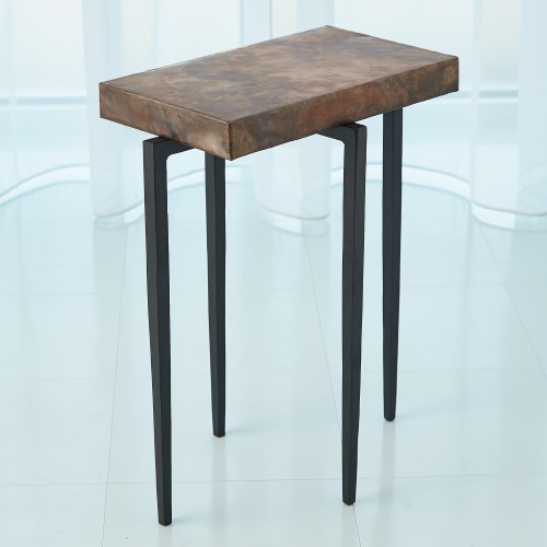 Laforge Accent Table-Black w/Oxidized Copper