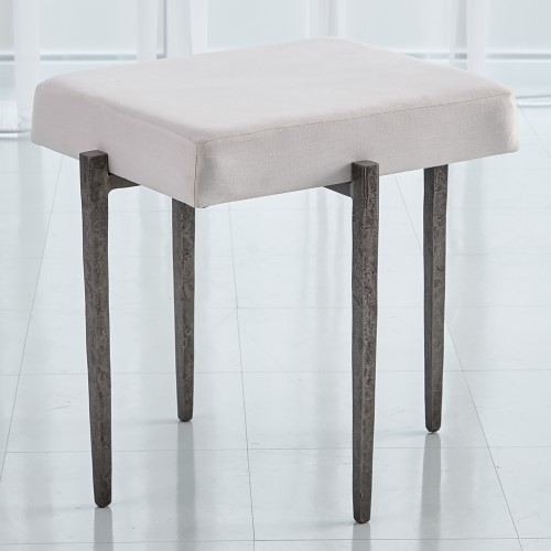 Laforge Bench-Natural Iron w/Muslin Cushion