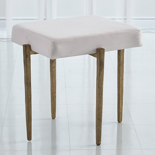 Laforge Bench-Antique Gold w/Muslin Cushion