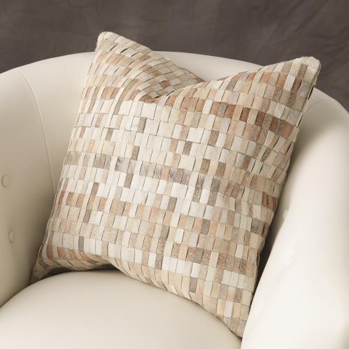 Brick weave Pillow-Hair-on-hide