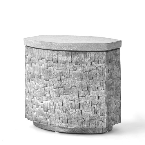 Shingles Accent Table-Grey w/Grey Terrazzo