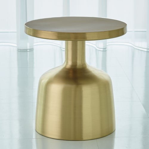 Neutra Accent Table-Satin Brass