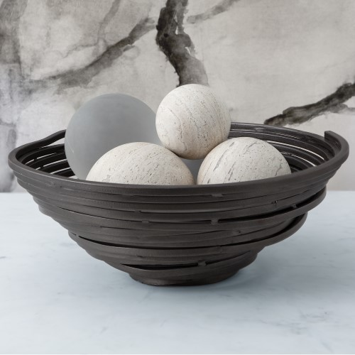 Iron Stock Swirl Bowl-Natural Iron