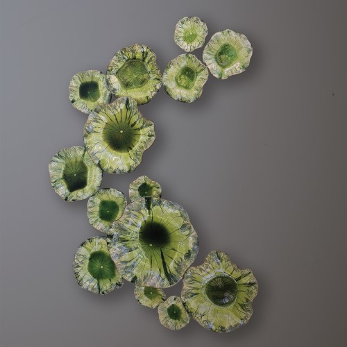 Free Formed Lily Plate-Green