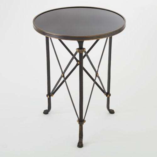 Directoire Table-Iron w/Black Granite Top