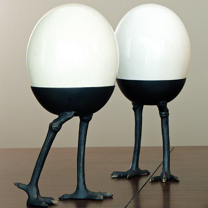 Global Views Products Ostrich Egg On Legs