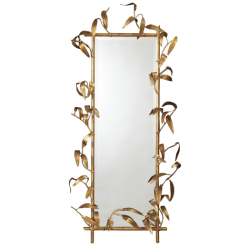 Bamboo Mirror w/Gold Finish
