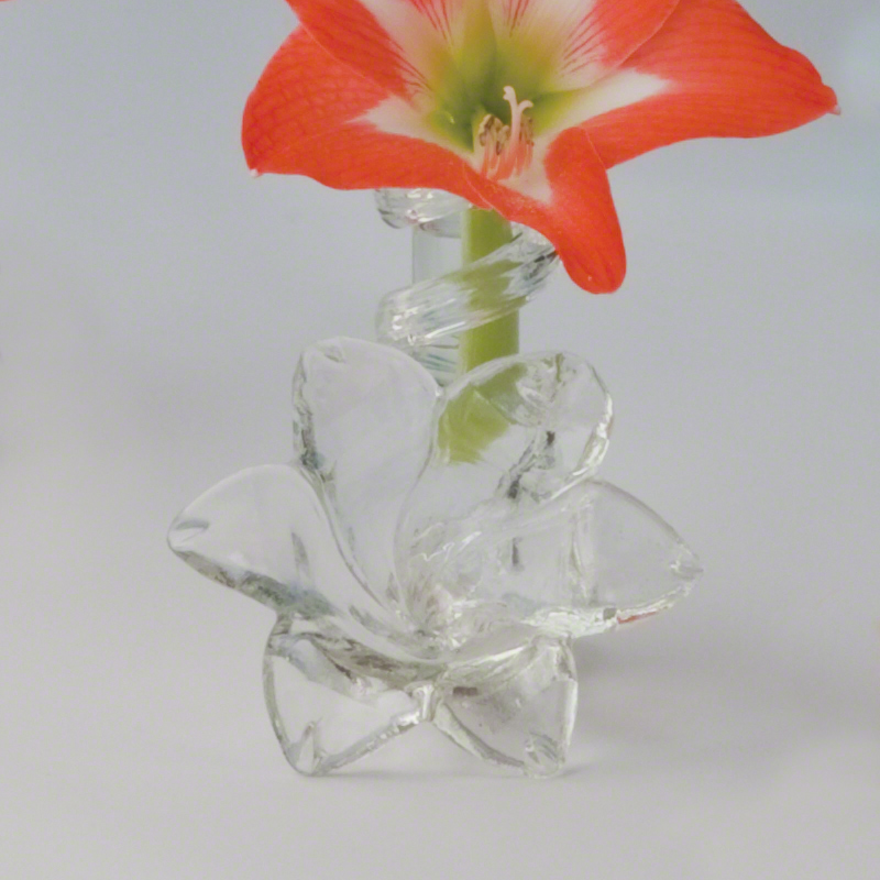 Clear Lily Bud Vase