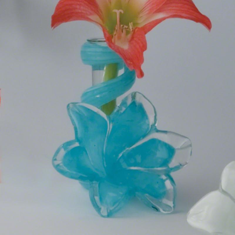 Blue Lily Bud Vase